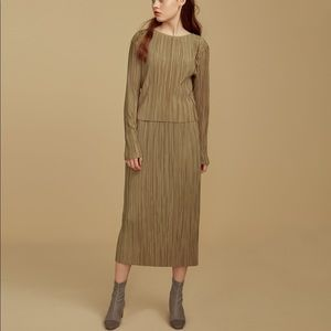 Dresses & Skirts - Pleated top and skirt set